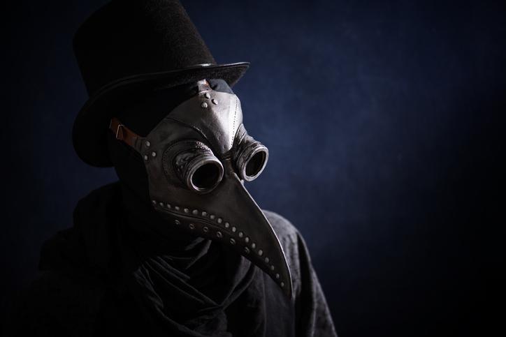 Black Death mask