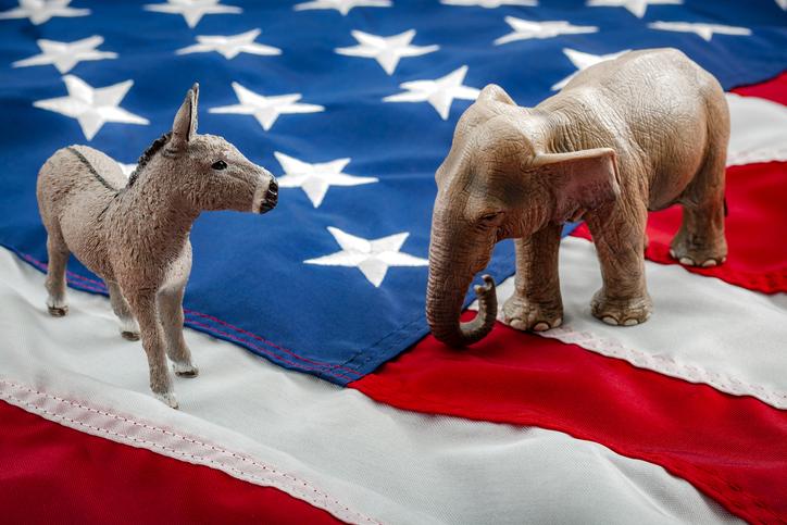 Republican and Democratic Mascots